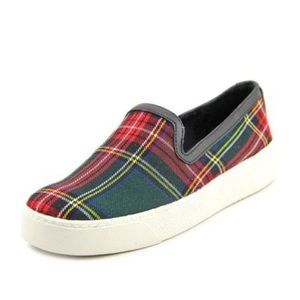 SAM EDELMAN Becker Plaid Tartan Slip On Sneakers